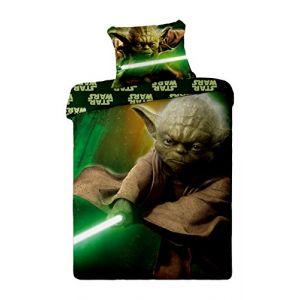Parure de lit réversible Star Wars Yoda (140 x 200 cm)
