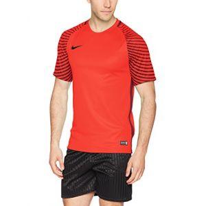 Nike SS Gardien JSY - T-Shirt pour Homme L Rouge/Grenat/Noir (Bright Crimson/Deep Garnet/Black)