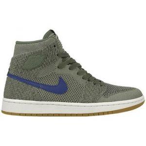 Nike Chaussure Air Jordan 1 Retro High Flyknit pour Enfant plusâgé - Gris Taille 38.5