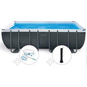 Intex Kit piscine tubulaire Ultra XTR Frame rectangulaire 5,49 x 2,74 x 1,32 m + Kit d'entretien + Douche solaire