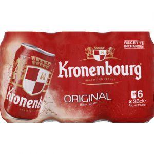 Kronenbourg Bière blonde, 4,2%vol. - Les 6 canettes de 33cl