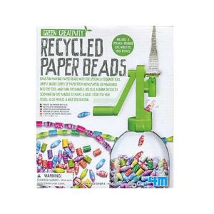 4M - Kidz Labs Kit green creativity : Perles en papier recyclé