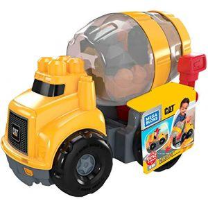 Mega Bloks First Builders La Bétonneuse Cat, jeu de blocs de construction, 9 pièces, jouet pour bébé et enfant de 1 à 5 ans, GFG11