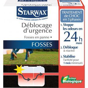 Starwax Déblocage d'urgence fosses bloquées - Boîte 200 g