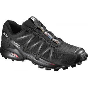 Salomon Homme Speedcross 4 Chaussures de Trail Running, Noir (Black/Black/Black Metallic), Taille: 46 2/3