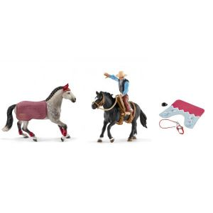 Schleich Figurines de chevaux et accessoires (jument, hannah)