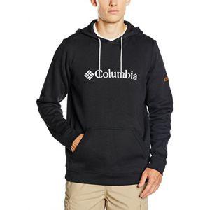 Columbia Sweatshirt à Capuche Longues Manches Homme, CSC Basic Logo II Hoodie, Coton, Noir (Black), Taille: XL, JO1600