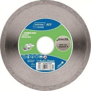 Norton clipper Disque diamant - CERAM ECO - jante lisse - D: 110 mm - Disque pour meuleuse