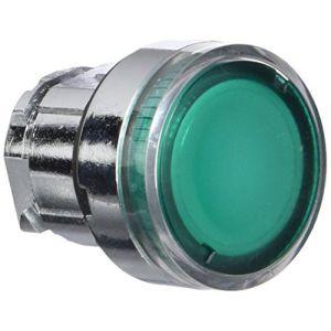 Schneider Electric ZB4BW33 Harmony tête de bouton poussoir lumineux pour BA9s, 22 mm Diamètre, vert