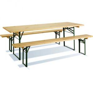 Imagin Table pique-nique + bancs pliables 200 x 70 cm