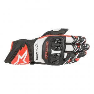 Alpinestars Gants cuir GP Pro R3 noir/blanc/rouge brillant - XL