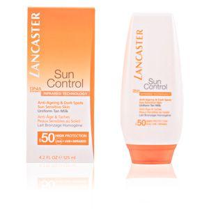 Lancaster Sun Control - Anti-âge & Taches peaux sensibles au soleil - Lait bronzage homogène SPF 50