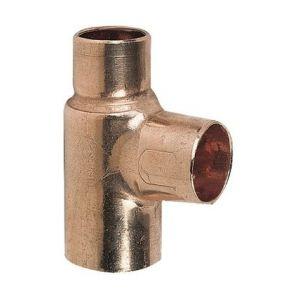 Viega Raccord cuivre en T réduit à souder - Femelle - Ø 28 - 14 - 28 mm - Conex / Bänninger