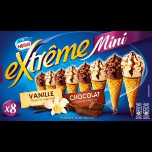 Nestlé Extrême Mini - Cônes vanille nougatine & chocolat nougatine