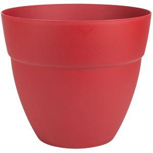 Eda Plastiques Pot de fleur rond Cancun Ø 50 x H.42,8 cm Rouge Rubis - Eda