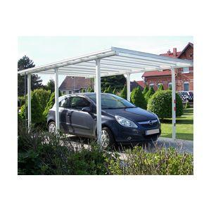 Beckmann Tradition - Carport en aluminium 3,08 x 4,96 x 2,22 m
