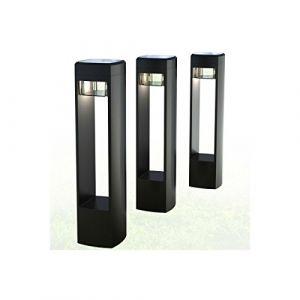 Xanlite Lot de 3 balises solaires PACK3SO500, 25 lumens, noir