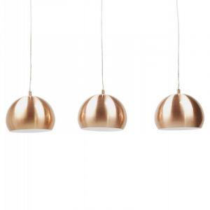 "Kokoon Design Lampe Suspension 3 Boules ""Kor"" Cuivre"