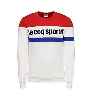 Le Coq Sportif Tri Crew Sweat N°1 Maillot de survêtement Homme, Blanc