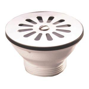 Nicoll 0204005 - Bonde à grille inox pour évier grès Diamètre 60 mm