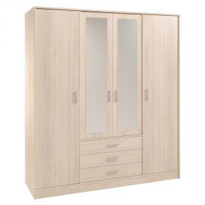 Swithome Infiny - Armoire 4 portes et 3 tiroirs