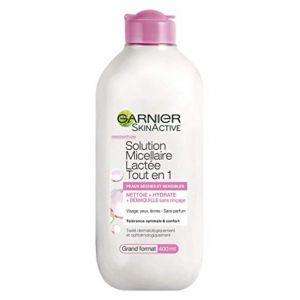 Garnier Pure Active Skinactive Solution Micellaire Lactée Tout en1 Peaux Sèches/Sensibles 400 ml