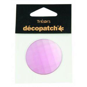 decopatch Cabochon rond rose 4,5 cm