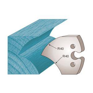 Diamwood Platinum Jeu de 2 fers profilés Ht. 50 x 5,5 mm jet d'eau M209 pour porte-outils de toupie