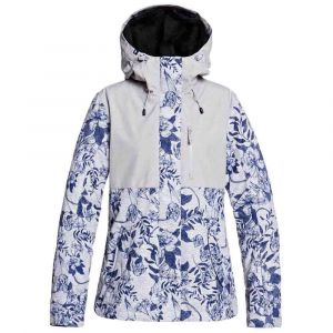 Roxy Jetty 3 en 1-Veste de Ski/Snowboard pour Femme, Heather Grey Botanical Flowers, FR : M (Taille Fabricant : M)