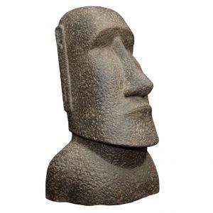 Statue Moai en pierre reconstituée 100 cm