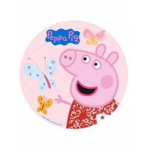 Disque azyme Peppa Pig pour gâteaux 20 cm