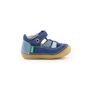 Kickers Sandales et nu-pieds SUSHY TRICOLORE bleu pour Bébé garcon
