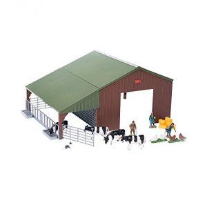 Tomy 43139A1 - Hangar de ferme à construire avec animaux et accessoires