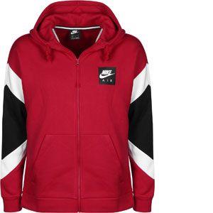 Nike Sweat à capuche entièrement zippé Sportswear Air pour Homme - Rouge - Taille XL