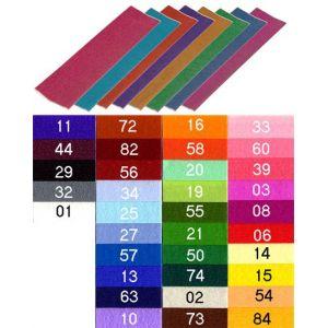 901001C Paquet de 10 feuilles de papier crépon 40%, 32 g/m², 2m x 0,50m, coloris blanc