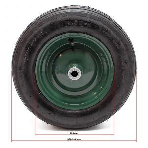 wiltec Set 4 roues complètes Brouette 3.50-8 Pneu Jante Gonflage Air Pneumatique