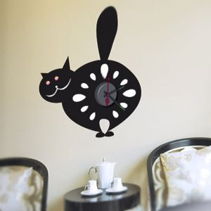 Horloge murale sticker Design Chat