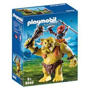 Playmobil 9343 - Knights : troll géant et soldat nain