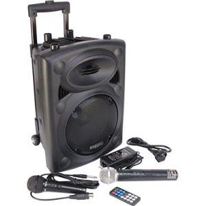 Ibiza Sound Ibiza Port8VHF-BT Sono PA portable bluetooth + pied de micro