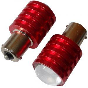 Aerzetix : 2x ampoule 24V P21W R10W R5W LED HIGH POWER 5W blanc pour camion semi-remorque porte de garage portail