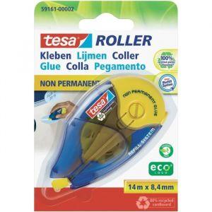Tesa Roller effaceur rechargeable colle non permanente 14m 8,4 mm EcoLogo