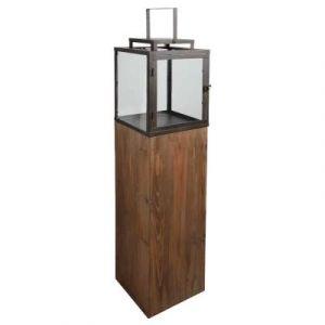 Aubry Gaspard Lanterne de jardin en bois et métal