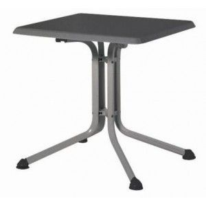 Kettler 0307018-5000 - Table de jardin carré pliante Kettalux plus 80 x 80 x 74 cm