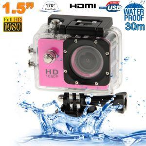 Yonis Caméra sport étanche 30m caméra d'action Full HD 1080p 12MP