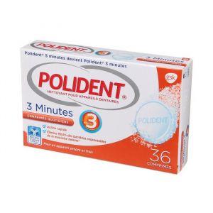 Polident Nettoyants pour appareil dentaire Action 3 minutes Antibactérien