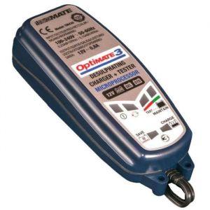 TecMate JARDIN PRATIC Chargeur de batterie OPTIMATE 3, de 2 à 30 Ah avec fonction désulfatation - Optimise puissance et longévité de la batterie, cycle d'entretien longue durée sécurisé