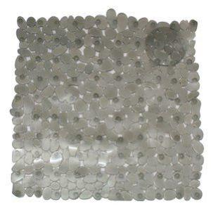Frandis Fond de douche galet pvc gris 52x52cm - Categorie fantome
