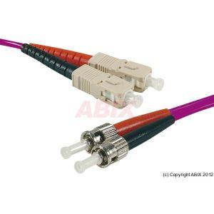 Abix 391757 - Câble jarretiere fibre optique duplex SC/ST OM3 50/125 15m