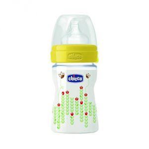 Chicco Biberon Bien-être 150 ml tétine silicone flux normal (0 mois +)