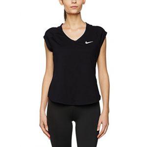 Nike Femme Pure à manches courtes Débardeur, femme, Débardeur, Pure Short Sleeve, noir